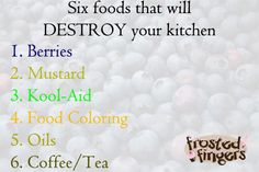 Six foods that will destroy your kitchen