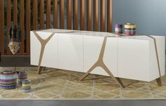 Contemporary wooden sideboard - LES CONTEMPORAINS: MANGROVE by M. Fumagalli    - ArchiExpo