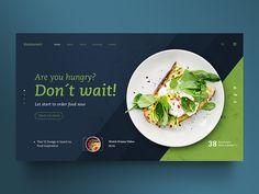 Food web design, creative design, web design trends, ui ux design, be Food Web Design, Web Design Quotes, Web Design Trends, Web Design Company, Menu Design, Banner Design, Layout Design, Web Layout, Creative Design
