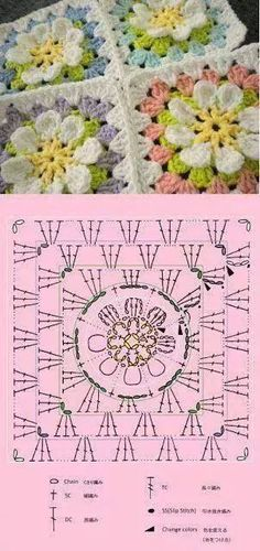 All sorts of crochet diagrams for grannys!