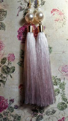 """Earrings elegant color brush. Серьги кисти, серьги своими руками, жемчуг, """"розовое великолепие"""" 5$"""