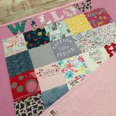 Willows quilt with a border looked great with her name on 👌 Keepsake Quilting, Organic Baby, Baby Bodysuit, I Shop, Quilts, Blanket, Unique Jewelry, Handmade Gifts, Crafts