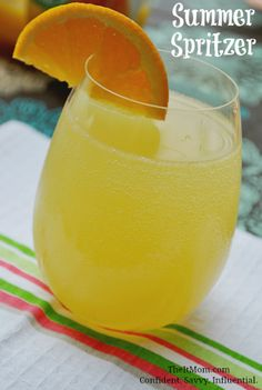 This easy Summer Spritzer Recipe is perfect for the pool or a weekend barbecue!