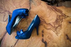 Blue and Orange Backyard Handmade Wedding | Glamour & Grace