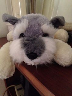Gray/White SCOTTY Dog Plush Adorable Soft Lovable Scottish Terrier People Pals