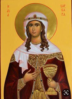 Byzantine Icons, Byzantine Art, Saint Barbara, Jesus Christ Images, Orthodox Christianity, Patron Saints, Orthodox Icons, Christian Art, Religious Art