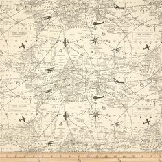 Vintage Maps Print Crib Sheet