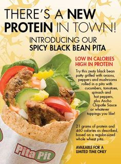 """Site where you can """"build"""" your pita to get nutritional info for your pita 