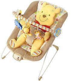 "Disney Winnie the Pooh Bouncer - Kids II - Babies ""R"" Us Oh my gosh! So cute, definitely going on my registry because we love Winnie The Pooh :) Winnie The Pooh Nursery, Disney Winnie The Pooh, Baby Disney, Disney Nursery, Babies R Us, Little Babies, Baby Kids, Baby Bouncer, Baby Swings"