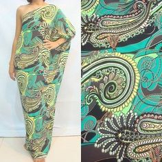 NWT Women's Green Evening Long One Shoulder Maxi Dress Plus Size 2X 3X 18 20 22 Plus Size Maxi Dresses, Curvy Style, Curvy Fashion, One Shoulder, Green, Clothes, Shopping, Outfits, Clothing