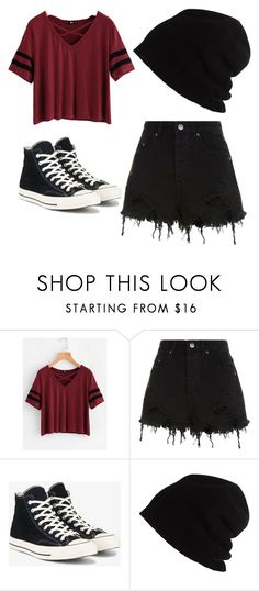 """Ivy School Outfit 4"" by emopotato77 ❤ liked on Polyvore featuring Ksubi, Converse and SCHA"
