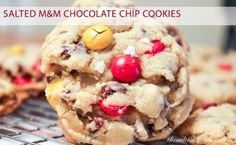 Salted M&M Chocolate Chip Cookies