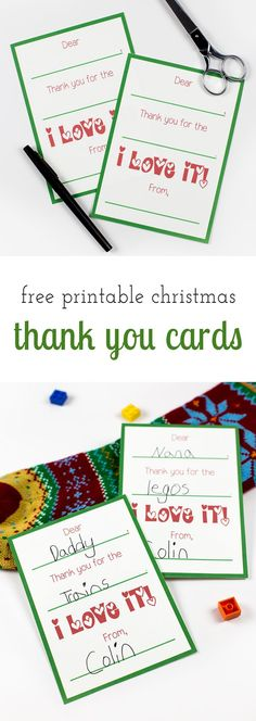 Writing thank you cards teaches kids about the importance of relationships, courtesy, respect, and gratitude. Love these free printable Christmas thank you cards!