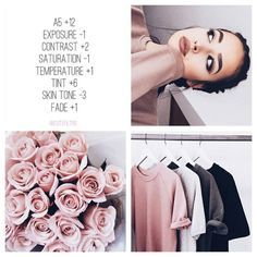 VSCO pink and white High exposure and contrast Vivid colors Selfies roses clothes sky Instagram Theme Vsco, Instagram Hacks, Photo Instagram, White Instagram Theme, Images For Instagram, Instagram Themes Ideas, Best Filters For Instagram, Pink Instagram, Photography Filters