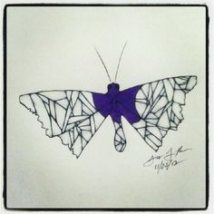 100 Butterflies in 100 Days, Day 36, Medium: Color Pencil