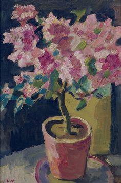 Pot with Azalea, 1927, by Louis Valtat.