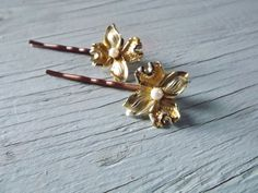Bobby Pin set 2   vintage jewelry by TheArtSwallow on Etsy, $10.00