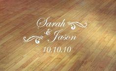 floor decals for weddings | wedding monogram dance floor vinyl custom decal sticker wedding ...