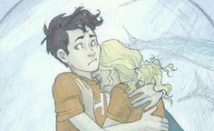 Percy and Annabeth in Sea of Monsters
