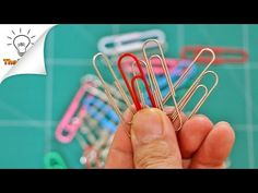 14 Paper Clips Life Hacks | Thaitrick - YouTube CONSEJO 10 para encuadernar con una goma