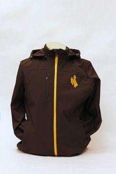 Brown Ladies Full-Zip Jacket W/ Gold Bucking Horse -$77.99-89.99