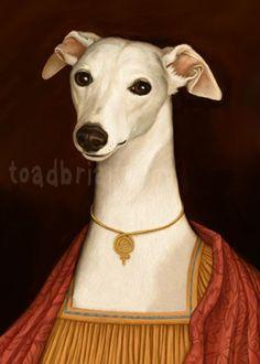 Aristocratic Whippet Portrait