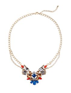 Mixed Gem Deco Statement Necklace | Women's Jewelry | THE LIMITED