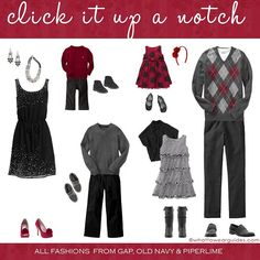 What to Wear in Family Photos-December 2011 - Click it Up a Notch