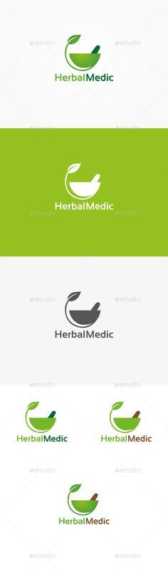 Herbal Pharmacy - Logo Design Template Vector #logotype Download it here: http://graphicriver.net/item/herbal-pharmacy-logo/9913065?s_rank=1477?ref=nesto
