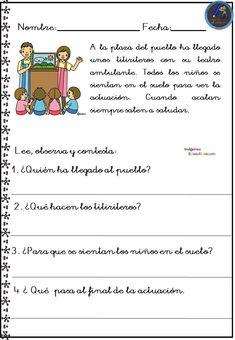 Spanish Class, Teaching Spanish, I School, Reading Comprehension, Acting, Homeschool, Student, Activities, How To Plan