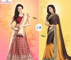 A Weekend Party is Here. Confused what to wear? Choose from Here  To Explore More : www.drapeethnic.com  #Saree #Lehenga #Traditional #Ethnic #Partywear #Glamorous #Stunning  #DrapeEthnic