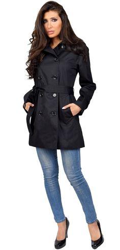Black Long Trench Coat