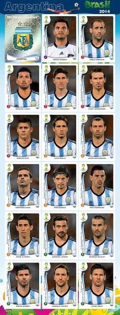 Equipo - Argentina - Mundial Brasil 2014