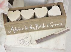 Advice for the Bride and Groom. Cute idea!