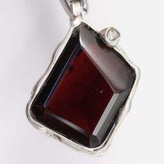 Granat Diamant Anhänger