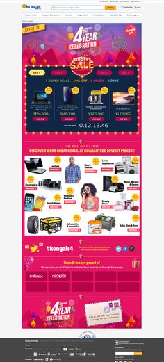 Konga 4th Year Anniversary Landing Page