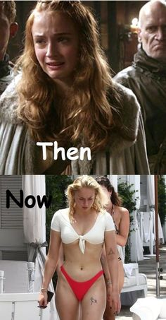 Sophie Turner Game Of Thrones Characters Then And Now Actors Then And Now, Then And Now Photos, Celebrities Then And Now, Game Of Thrones Cast, Game Of Thrones Funny, Game Of Thrones Theories, Game Of Thrones Tattoo, Game Of Thrones Quotes, Game Of Thrones Characters