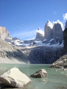 Base of the Torres del Paine/Paine Towers  @ Torres del Paine National Park.