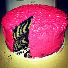 DIY Zebra Cake with Stripes Inside! | Home is Wherever I'm With You