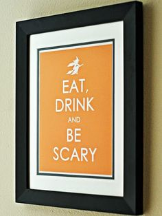 """<p>Spruce up your home with this cool <a href=""""http://www.parents.com/holiday/halloween/"""" >Halloween</a> poster.</p>"""