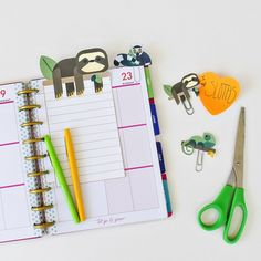 FREE PRINTABLE SLOTH PLANNER INSERTS AND CLIPS