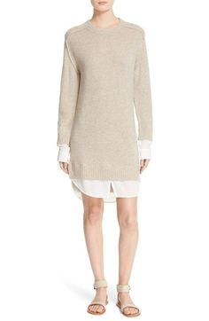 Free shipping and returns on Brochu Walker 'Looker' Wool & Cashmere Sweater Dress at Nordstrom.com. Gauzy shirttails and cuffs peek out at the hems of a layered-look sweater-dress knit from a supremely soft blend of wool and cashmere.
