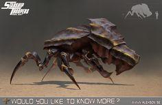 StarShip Troopers bug tank, Alexander Forssberg on ArtStation at https://www.artstation.com/artwork/starship-troopers-bug-tank