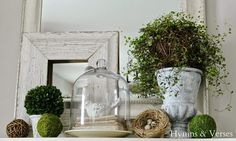 My Spring Mantel | Hymns and Verses