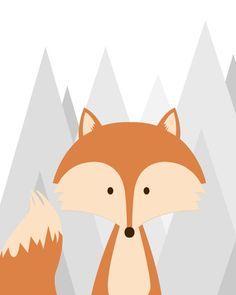Woodland Nursery Prints, Fox Nursery, Nursery Wall Art, Fox Decor, Wall Art Prints, Illustration, Baby Carriers, Children Toys, Baby Pants