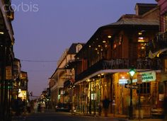 Bourbon Street in the evening, New Orleans, Louisiana, USA