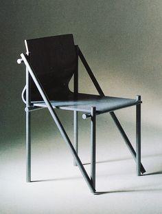 teruo okamoto, armless chair, 1988.