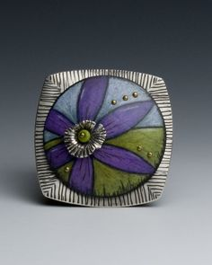 """Deb Karash Jewelry, enamel. """"The creation of jewelry, for me, is about intimacy. Something personal is expressed in the wearing of handmade jewelry. Connections: mechanical, metaphorical, and emotional, play an important role in my work and in my life as a maker."""""""