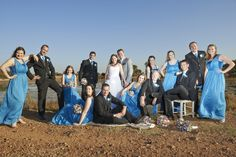 Bridal party, bush wedding