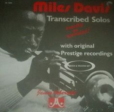 Miles Davis, Jamey Aebersold - Miles Davis Transcribed Solos (Vinyl, LP, Album) at Discogs